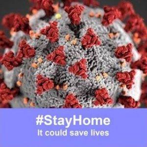 #Stayhome logo coronavirus